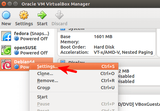 Enable File Sharing between Host and Virtualbox Guest