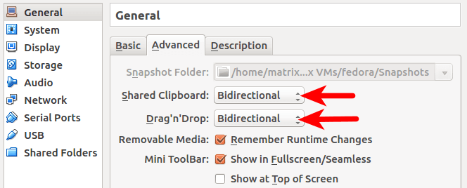 Virtualbox Shared Clipboard