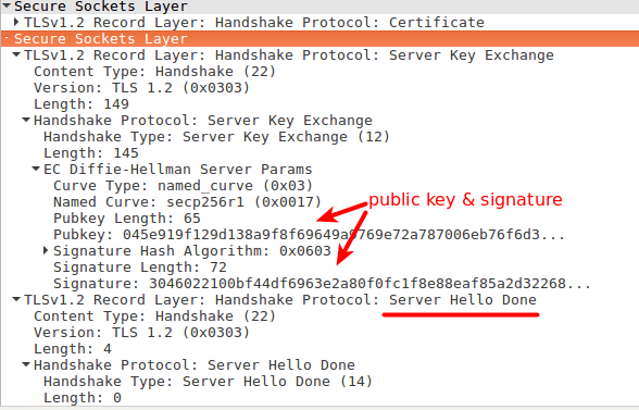 server key exchange