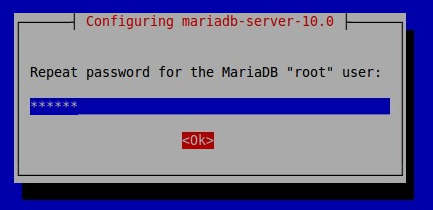 set mariadb root password