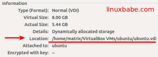 virtual disk location