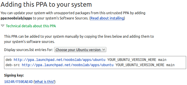 manually add ppa to debian system