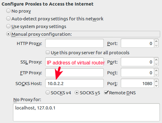 firefox proxy configuration