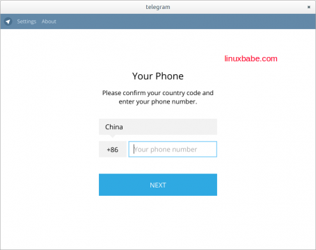 log into telegram using phone number