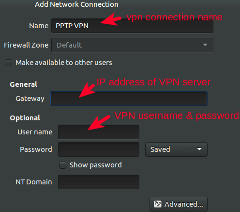 vpn connection details