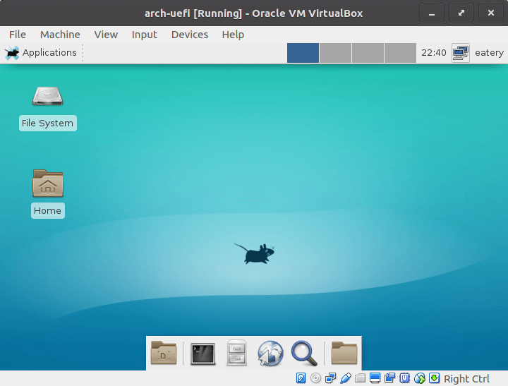 Install Arch Linux in Virtualbox with UEFI Firmware in 2019