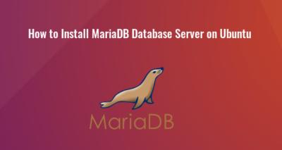 how to install mariadb database server on ubuntu