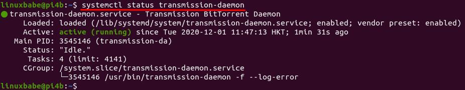 install Transmission on raspberry pi
