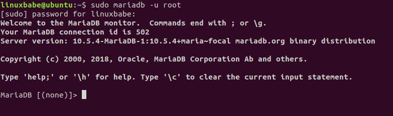 mariadb 10.5 monitor