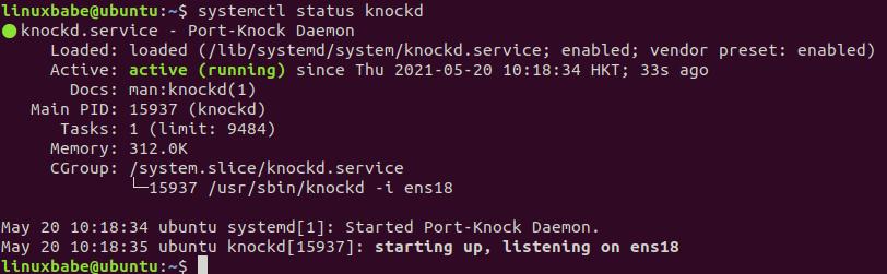 port-knock daemon ubuntu