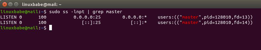 ubuntu postfix TCP port 25