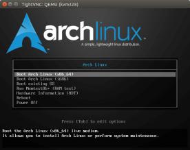 How To Manually Install Arch Linux on a KVM VPS via VNC