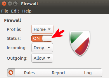 gufw - graphical uncomplicated firewall