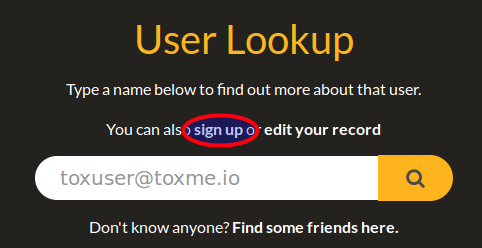 Register an Email Account with Tox