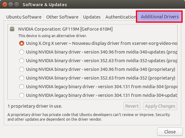Software & Updates_ additional drivers
