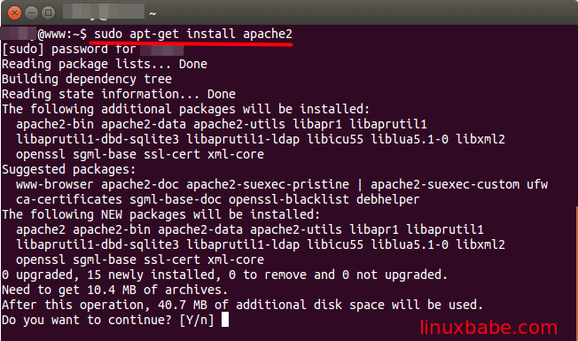 Install Apache, MariaDB and PHP7 (LAMP Stack) on Ubuntu 16.04 LTS