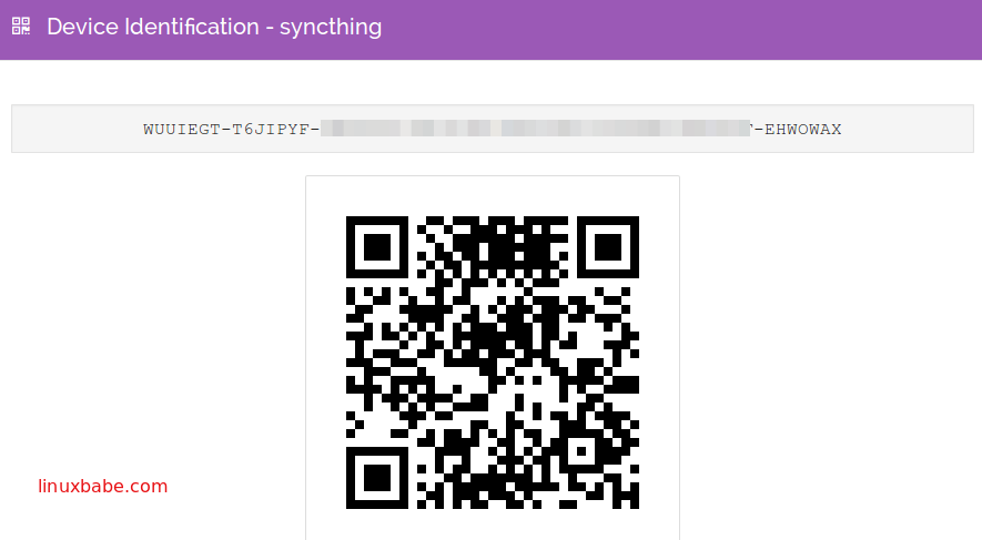 Syncthing Device ID