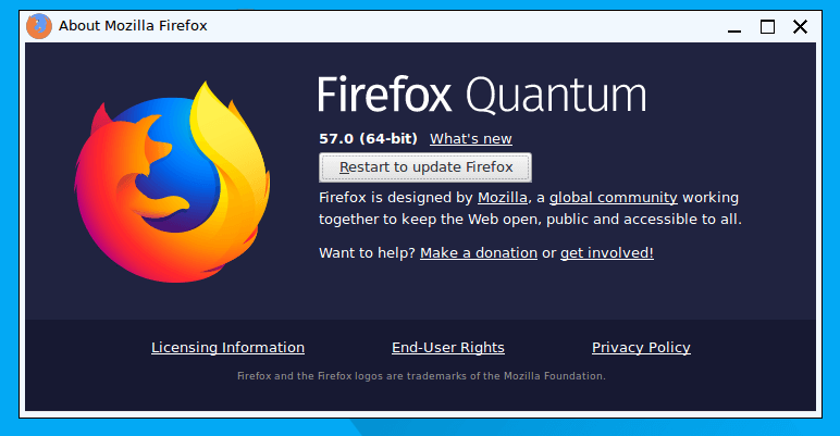 how to update firefox on puppy linux