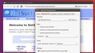 NetSurf browser