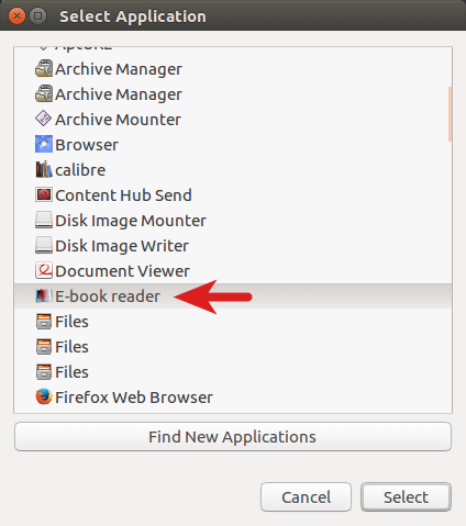 open mobi file with fbreader in ubuntu