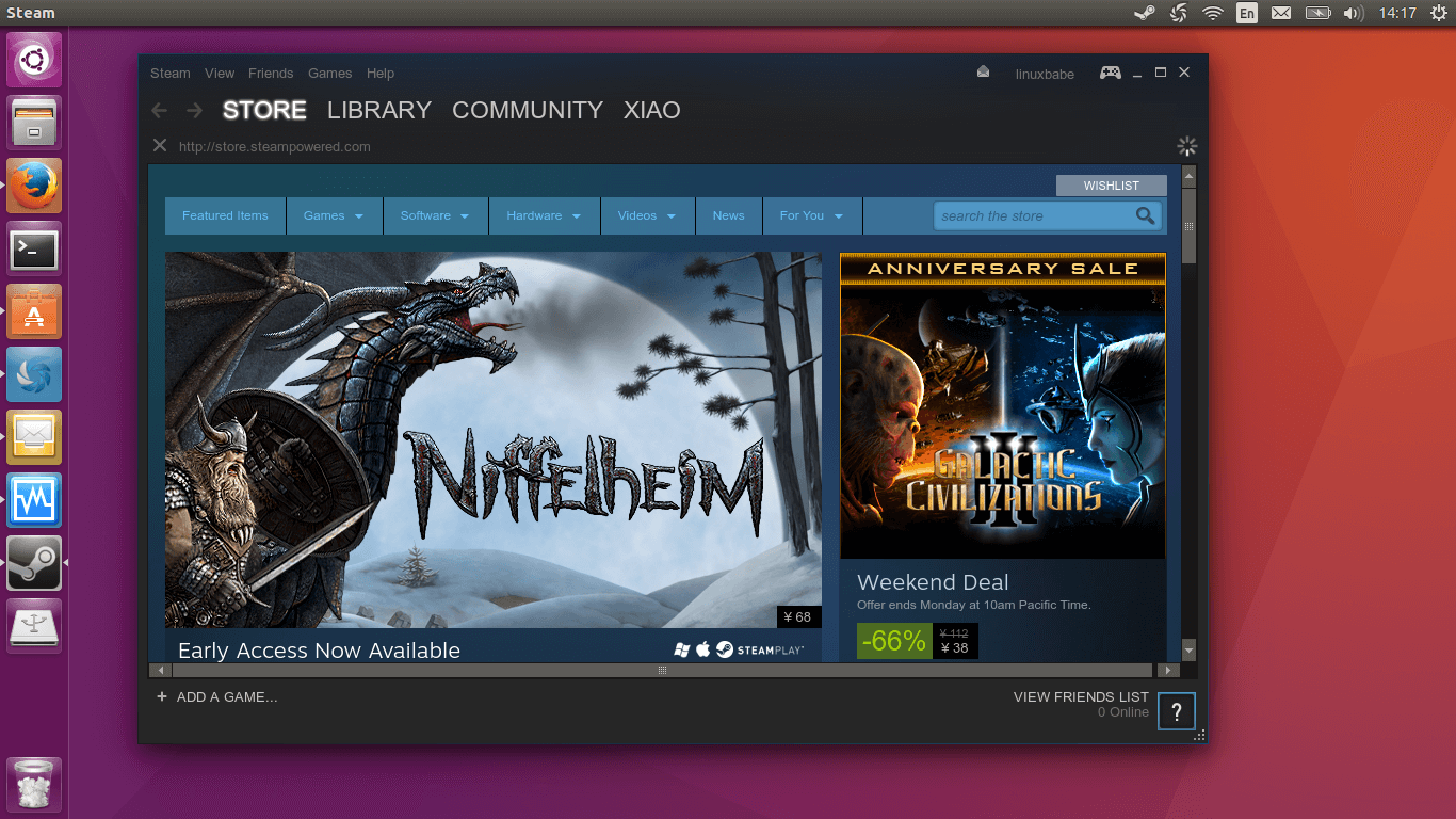 ubuntu 16.04 steam client
