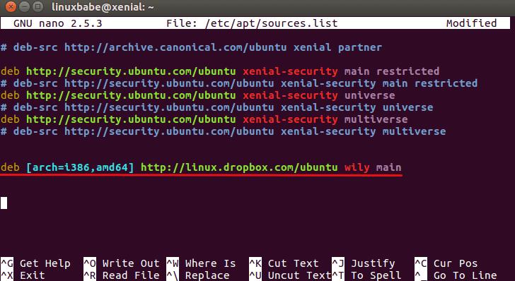 dropbox ubuntu repo