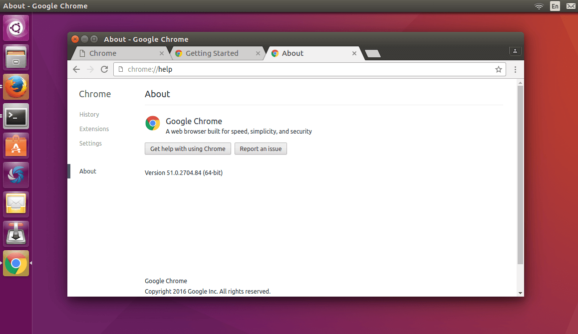 google chrome v51