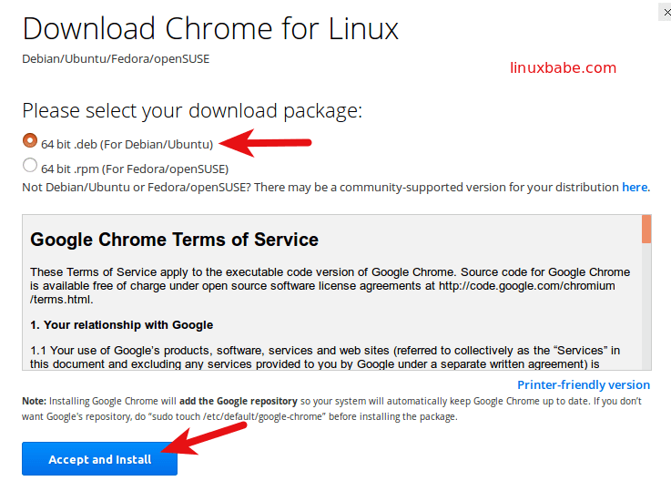 install google chrome on ubuntu 16.04