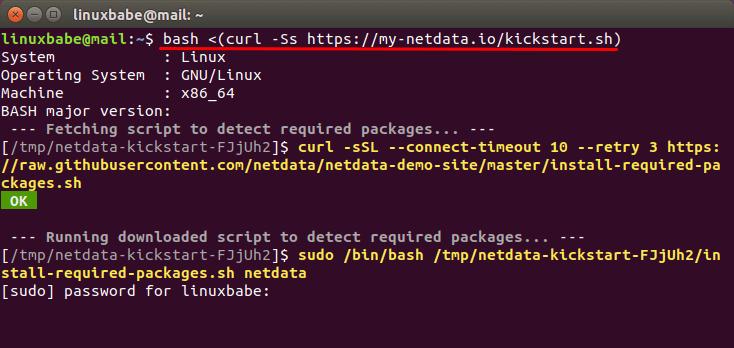 install netdata on linux server