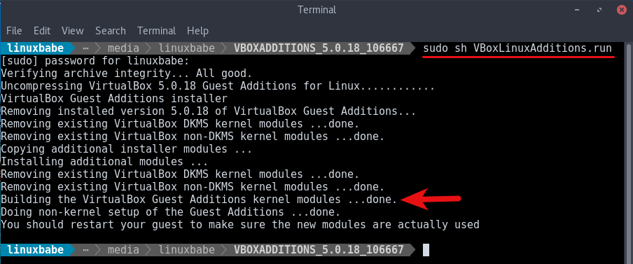 install virutalbox guest additions in Apriticy OS