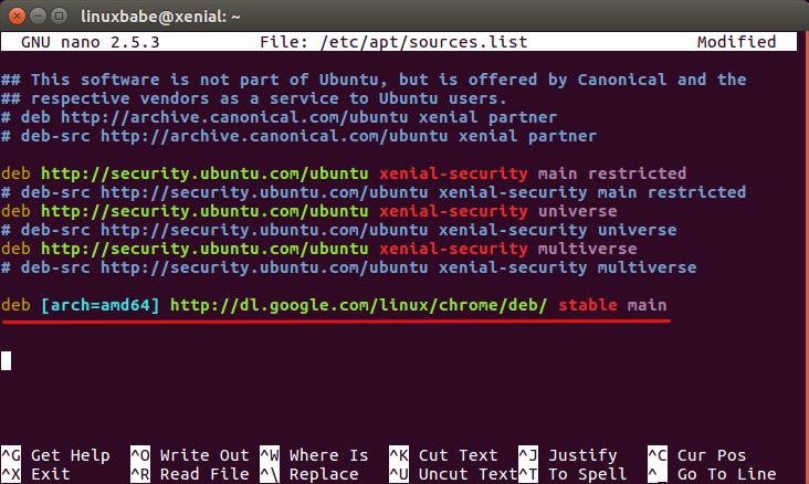 download chrome ubuntu command