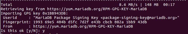 mariadb signing key