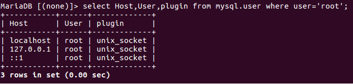 Plugin 'unix_socket' is not loaded