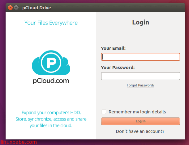 pcloud drive for linux