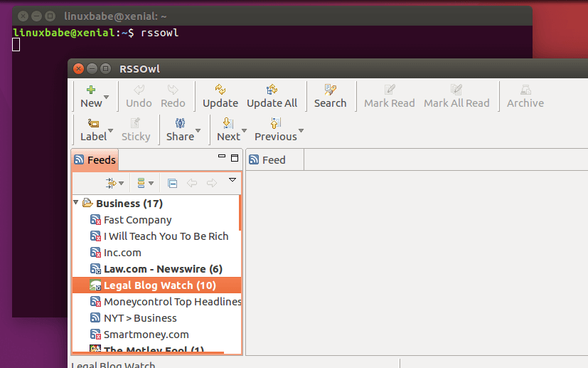rssowl for linux