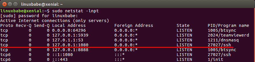 ssh dynamic port forwarding