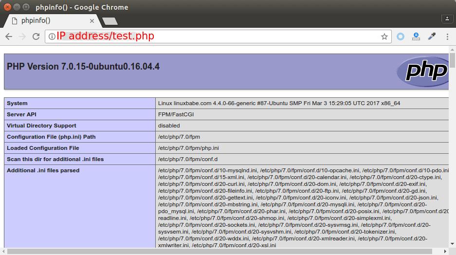 ubuntu 16.04 nginx php