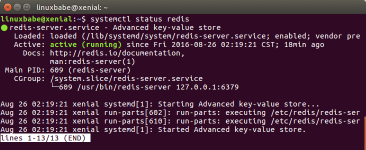 ubuntu 16.04 redis server