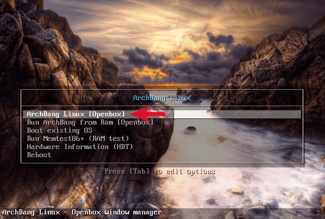ArchBang Linux Install