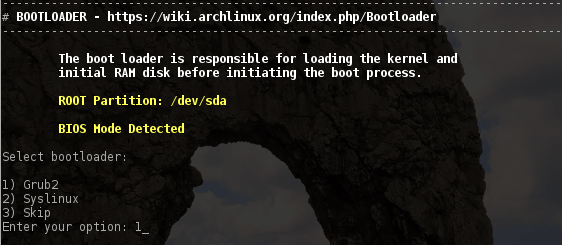 archbang linux install grub bootloader