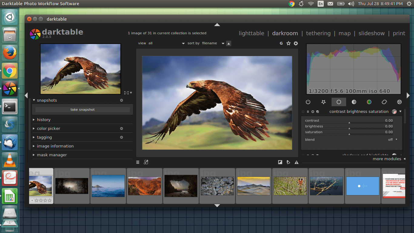 darktable linux photo editor