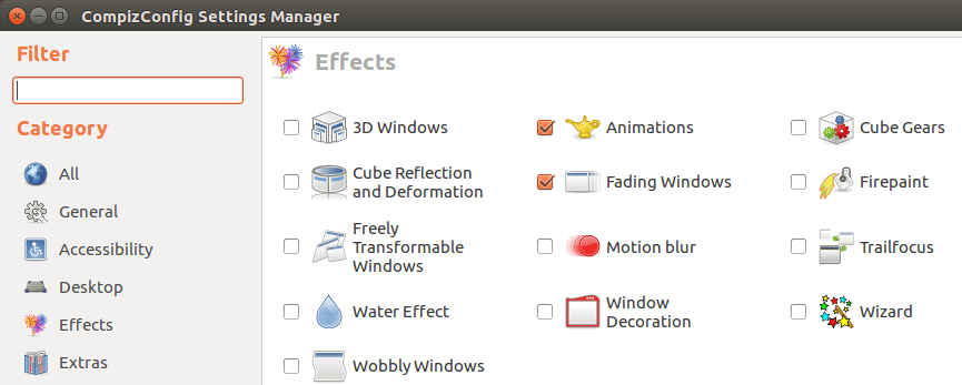 disable effects to make ubuntu faster