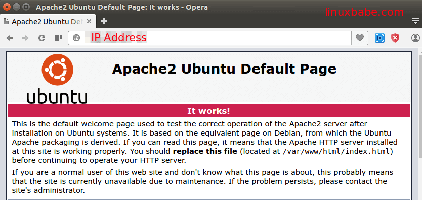 install apache 2.4.7 on Ubuntu 14.04