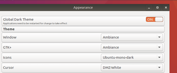 install ubuntu light theme on debian 8