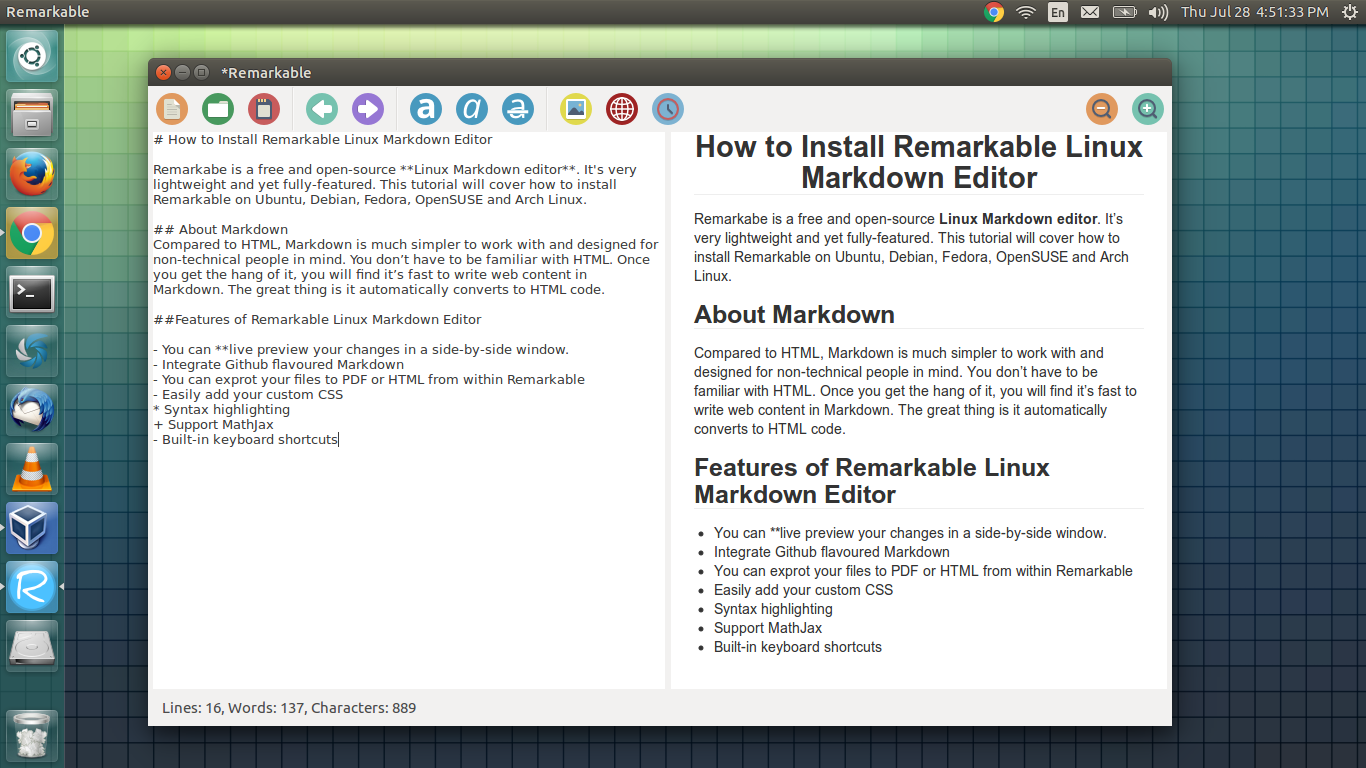 Remarkable: Lightweight and Yet Fully Featured Linux