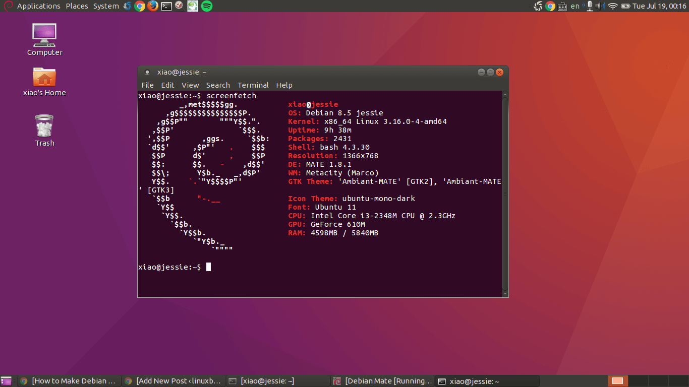 make debian 8 jessie look like ubuntu mate