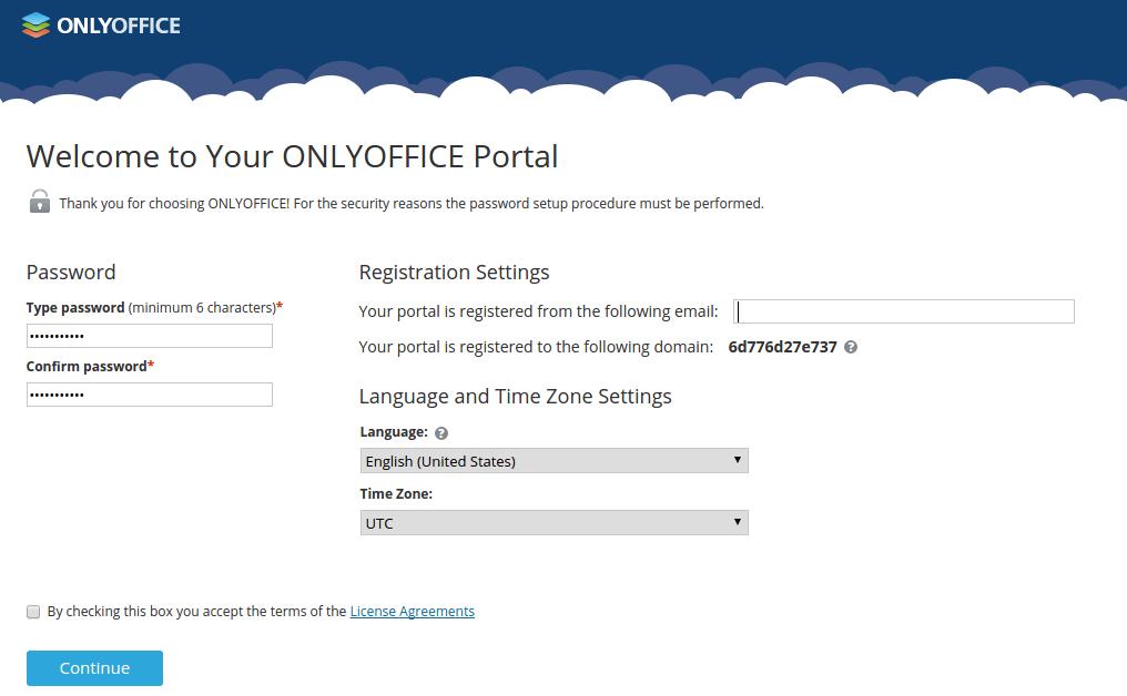onlyoffice portal setup