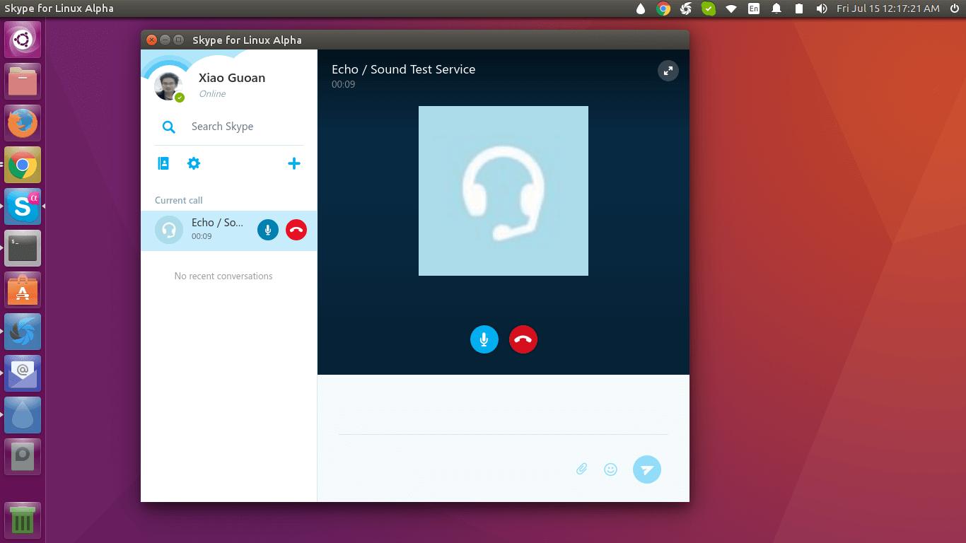 skype for Linux alpha client