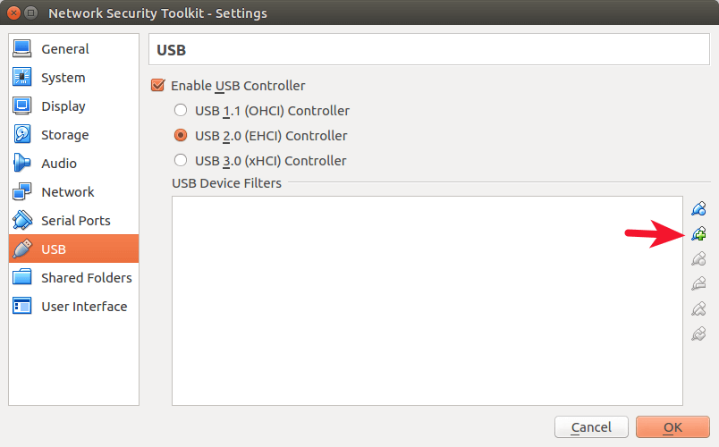 virtualbox add new usb filter