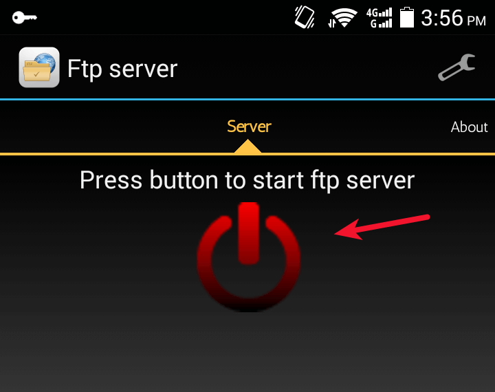 android ftp server transfer file ubuntu